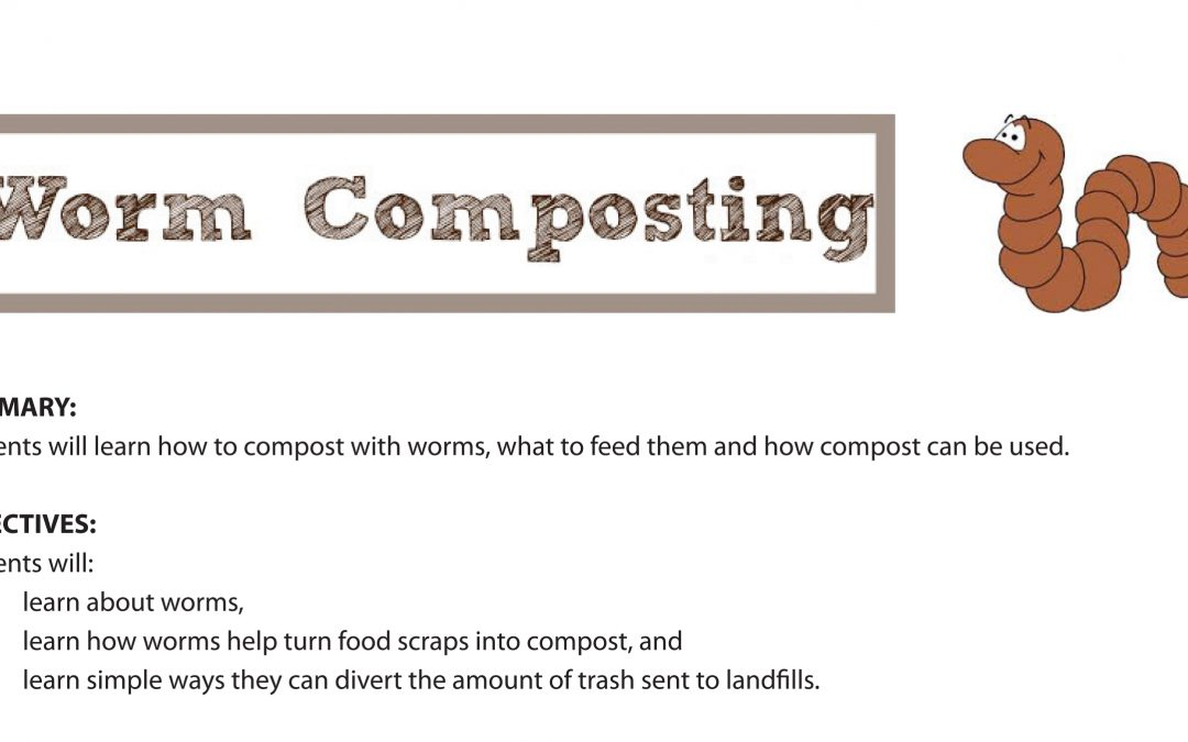 Kid's Activity Sheets – Worm composting